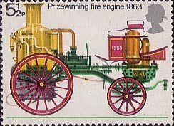 Fire Service 5.5p Stamp (1974) Prize-winning Fire-engine, 1863