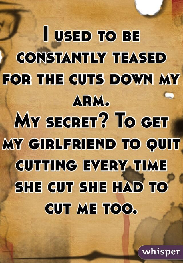 I just want to cut my wrist and thighs and I don't want to ... |I Cut My Arm