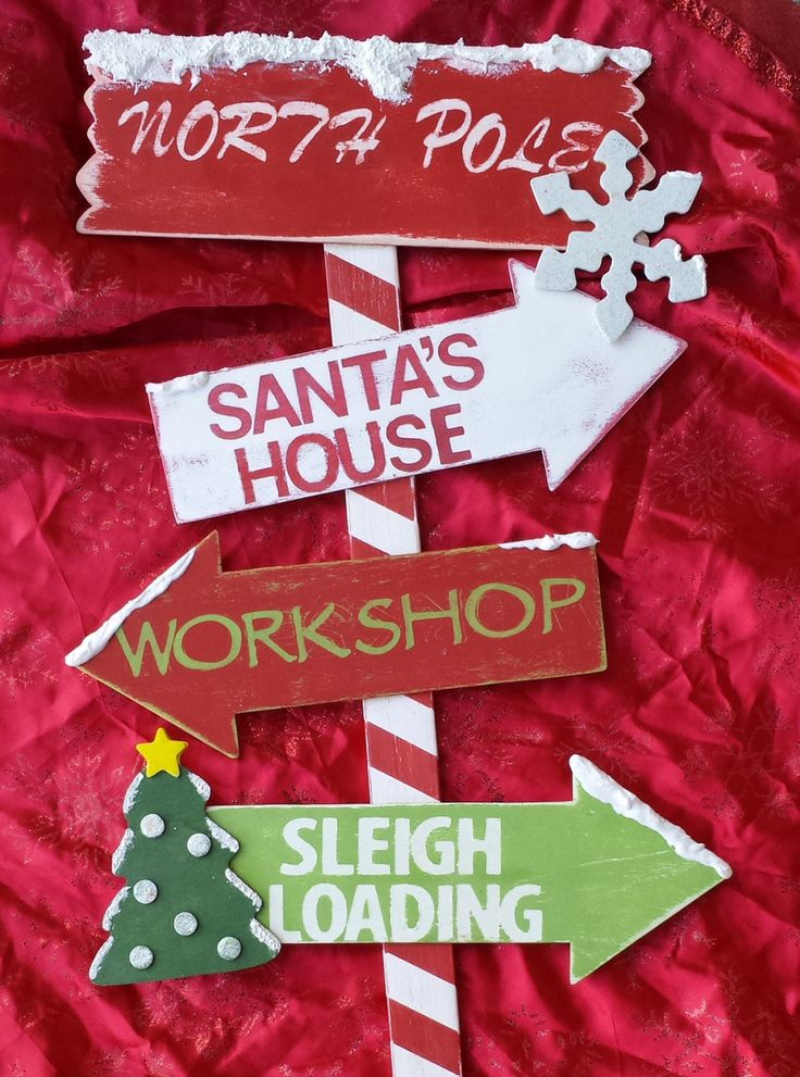 Christmas Decor  Wooden North Pole Yard Stake  by MommyMelmadeit, $40.00