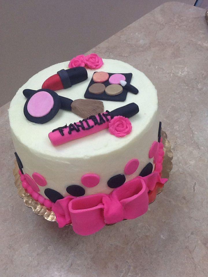 Livay Sweet Shop Spa Theme Cake Makeup Cake Fondant Cake