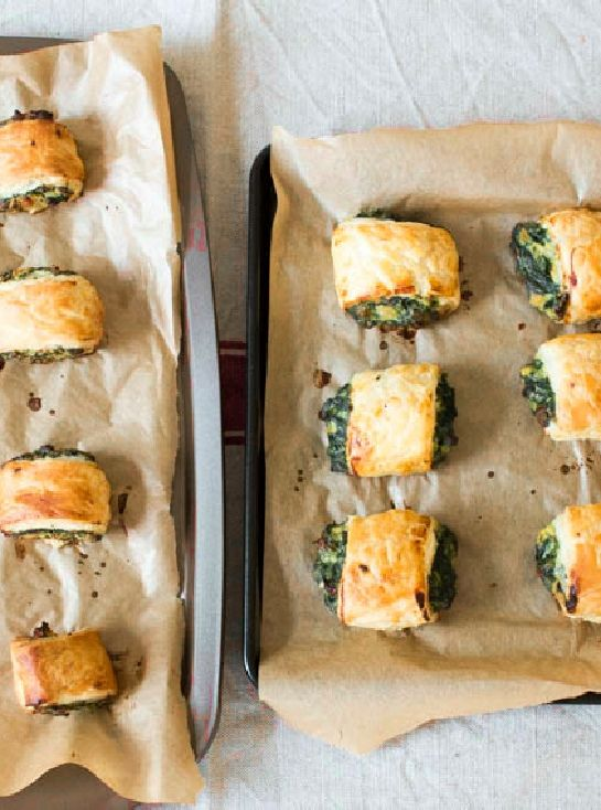 Low FODMAP and Gluten Free Recipe - Cheese & spinach sausage rolls
