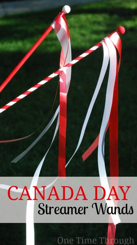 Fun to wave at a parade or just for waving around!  {One Time Through}  #CanadaDay #kidscrafts