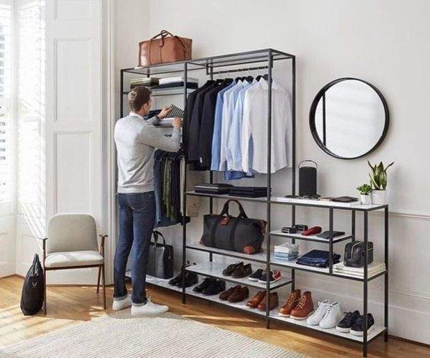 Random Inspiration 269. Mens Closet OrganizationMen ApartmentApartment IdeasMen  DecorOpen ...