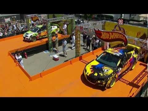 "Alternate angles of this crazy stunt! ""X Games Los Angeles 2012: Hot Wheels Double Dare Loop"""