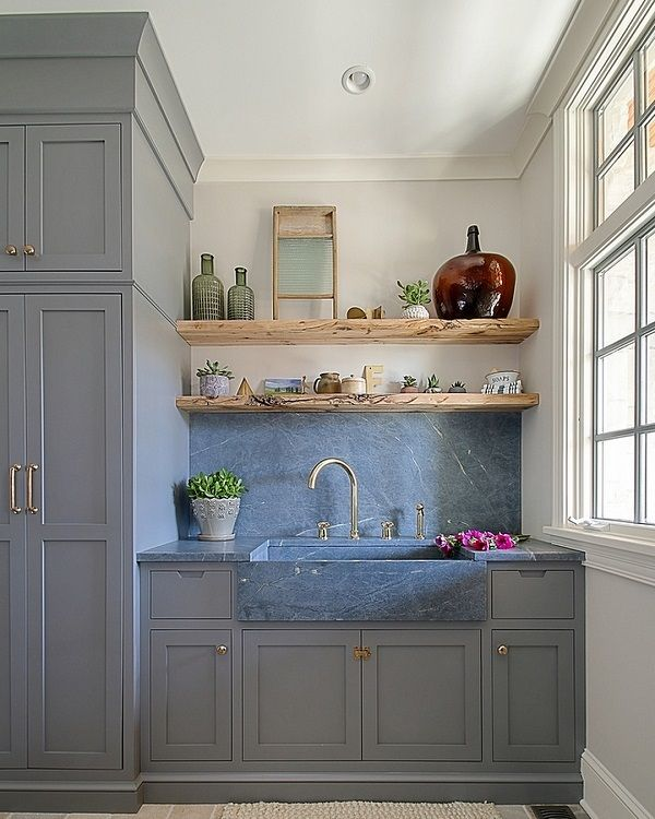 a4938f8ac ... You have to see this #farmhousesink decor idea with widespread  double-handle faucet and marble countertops. Love it! #FarmhouseSinkDecor  #HomeDecorIdeas