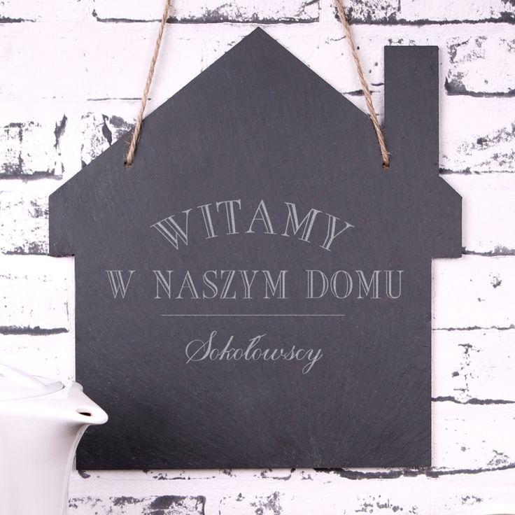 Personalizowana tabliczka kamienna NASZ DOMEK