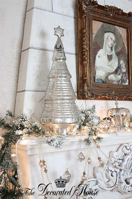 17 Best Images About Mercury Glass Christmas On Pinterest