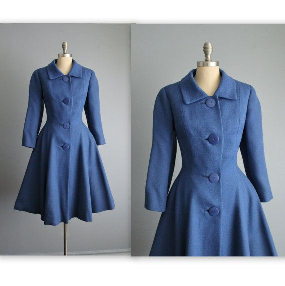 50's Princess Coat // Vintage 1950's Saks Fifth Avenue