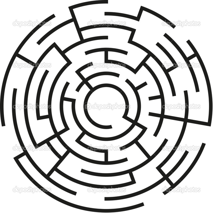 Cool abstract labyrinth.  To me, it symbolizes the maze to happiness.  There are some paths we take that can get us close to happiness, but only one that can truly get us there.