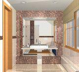 Illustration: Several views of  luxury bathroom