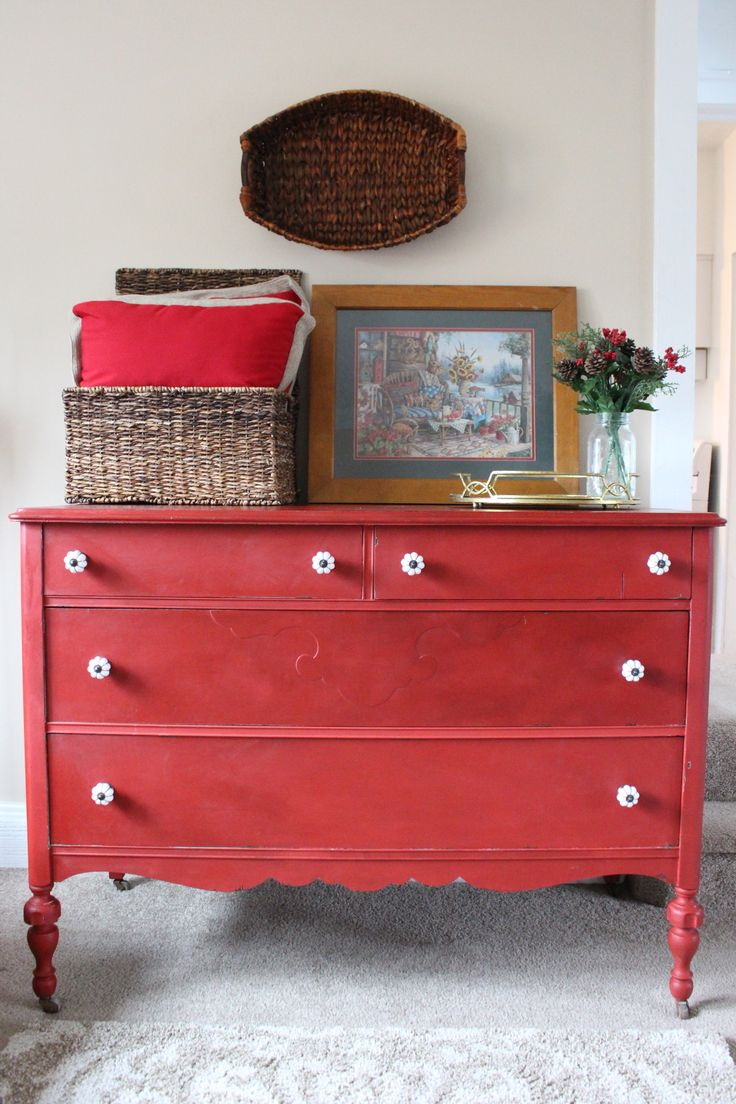 710 Best Images About Red Painted Furniture On Pinterest