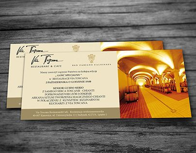 """Check out new work on my @Behance portfolio: """"Invitation design for special event in Via Toscana"""" http://be.net/gallery/50863635/Invitation-design-for-special-event-in-Via-Toscana"""