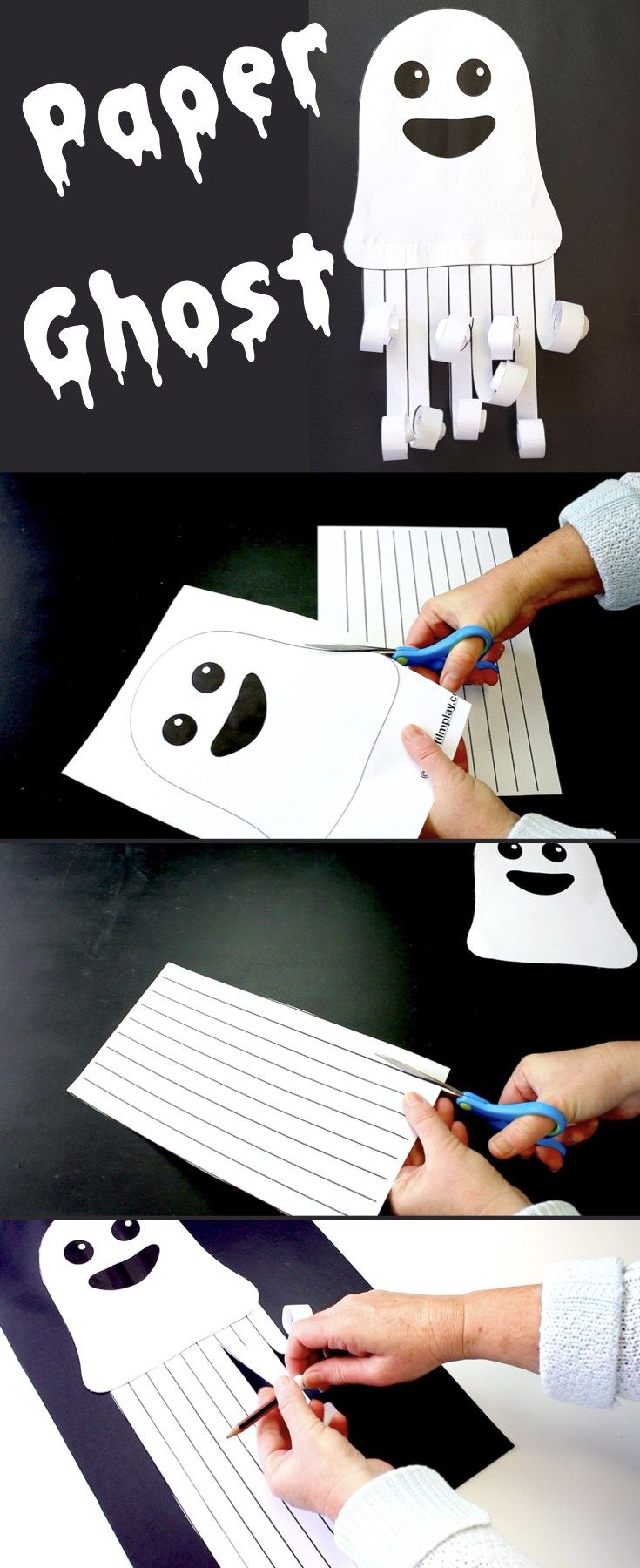 Paper Ghost Picture – Make Film Play Make this spooky paper ghost picture for…
