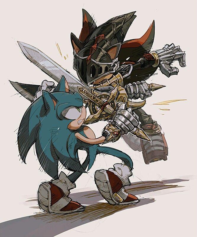 Sir Sonic vs. Sir Lancelot (Shadow) - Sonic and the Black Knight