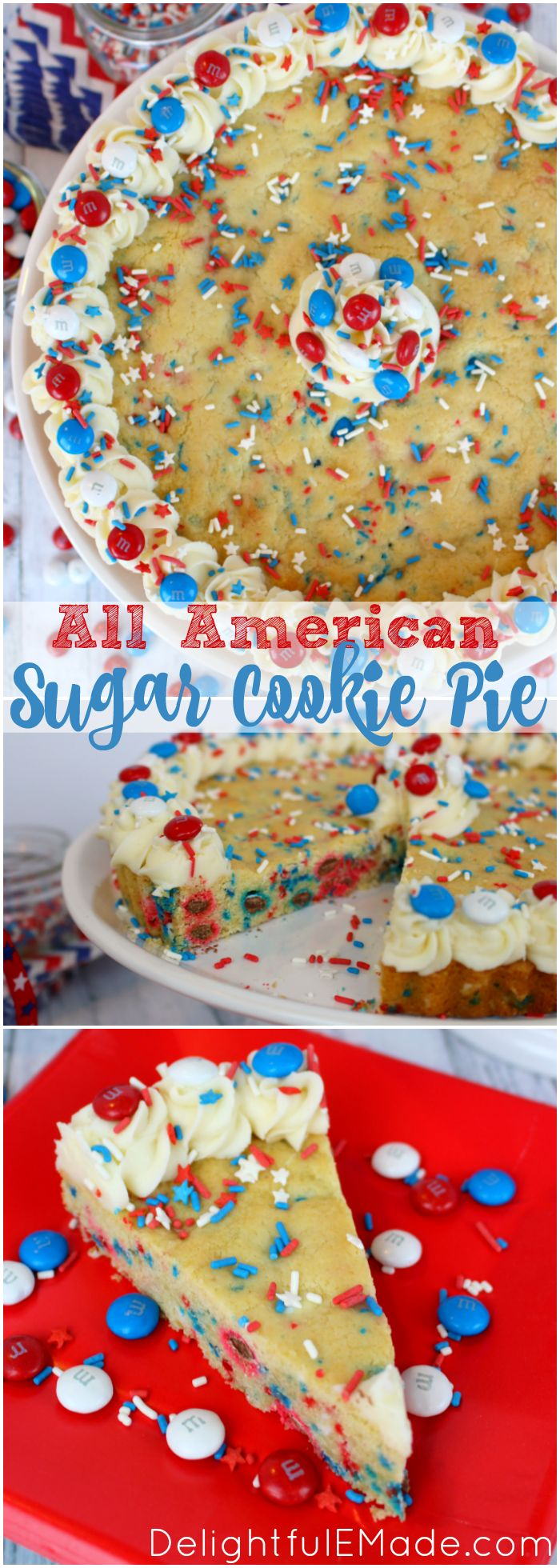 An Amazing Red, White And Blue Dessert, Perfect For Celebrating America!  Chewy,