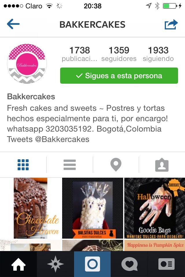 Sigue a Bakkercakes en Instagram