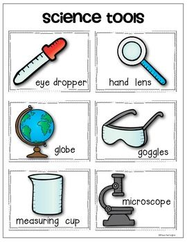 SCIENCE TOOLS {VOCABULARY CARDS AND ANCHOR CHART PACK} FOR YOUNG SCIENTISTS! $