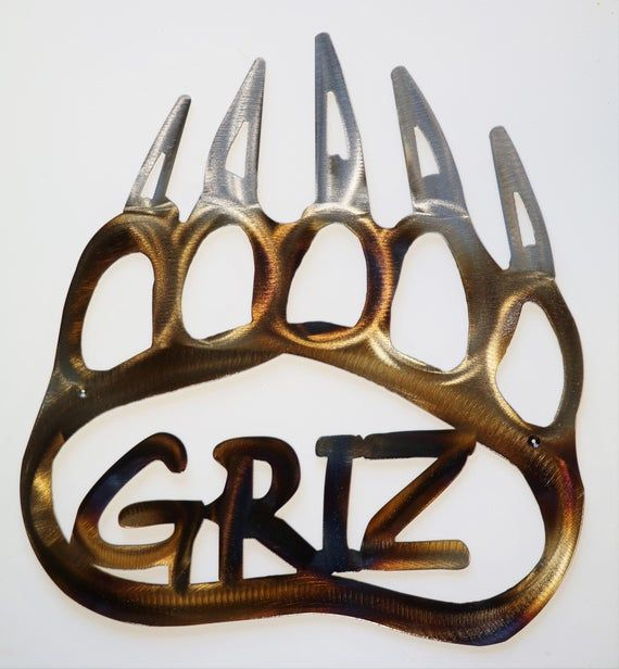 Licensed Ncaa University Of Montana Griz Home Decor Metal Wall Etsy University Of Montana Metal Walls Metal Wall Art