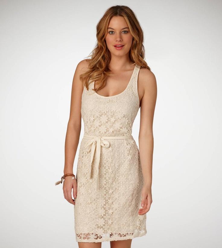Looks comfy!: Dresses 39 50, Crochet Dresses, Floral Tanks, Ae Crochet, Tanks Dresses, Crochet Floral, American Eagles, Lace Skirt, Floral Dresses