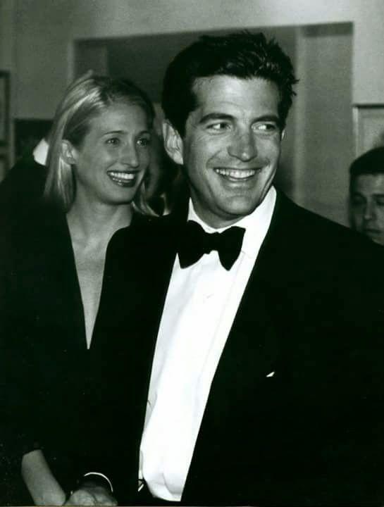 John F Kennedy, Jr and wife