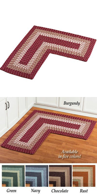 Other Rugs And Carpets 8409 L Shaped Corner Kitchen Laundry Bath Braided Rug By Collections Etc It Now Only 24 99 On Ebay