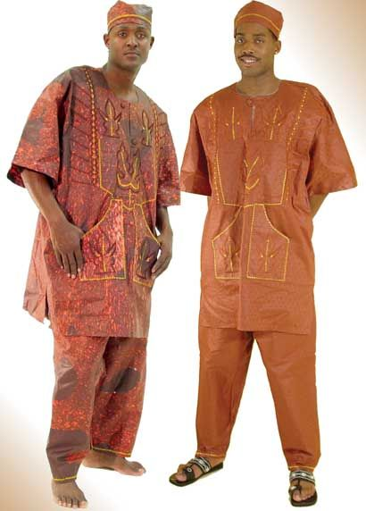 Nigerian Brocade with Nigerian-style contrast embroidery for men: brocade is a cotton fabric with a design imprinted on it. Description from pinterest.com. I searched for this on bing.com/images