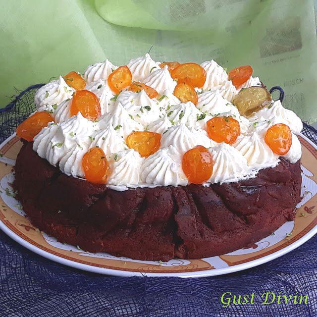 .: Tort cu ciocolata si crema de lamaie