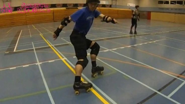 How to Hockey Stop in Roller Skates by Reckless Rowly, made for the Amsterdam Derby Dames