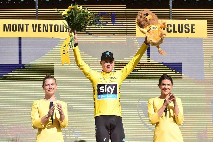 Tour de France 2016 - 014/07/2016 - Etape 12 - Montpellier/ Mont Ventoux (184 km) - FROOME Christopher (TEAM SKY) - Avec le maillot Jaune sur le podium © ASO/A.Broadway