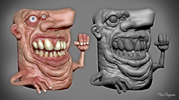 3D ZBrush sculpt based on an original concept by Numero 6 - fan Art, Pierre Benjamin on ArtStation at https://www.artstation.com/artwork/mvlkZ