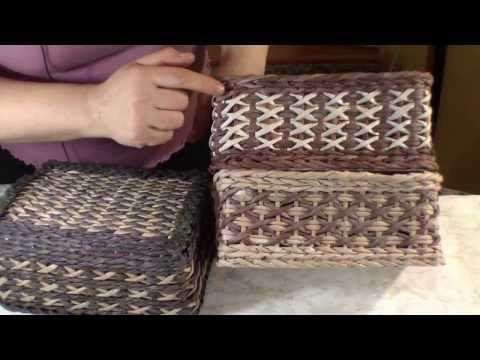 Weaving the beautiful pattern Crosses of newspapers - YouTube
