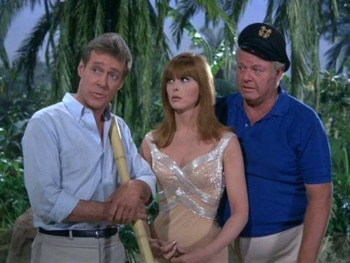 Alan Hale Jr., Tina Louise, and Russell Johnson in Gilligan's Island (1964)