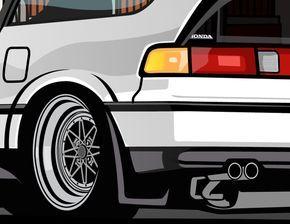 Honda CrX JDM by Alex Maldonado #CRX #Honda #Rvinyl =========================== http://www.rvinyl.com/Honda-Accessories.html