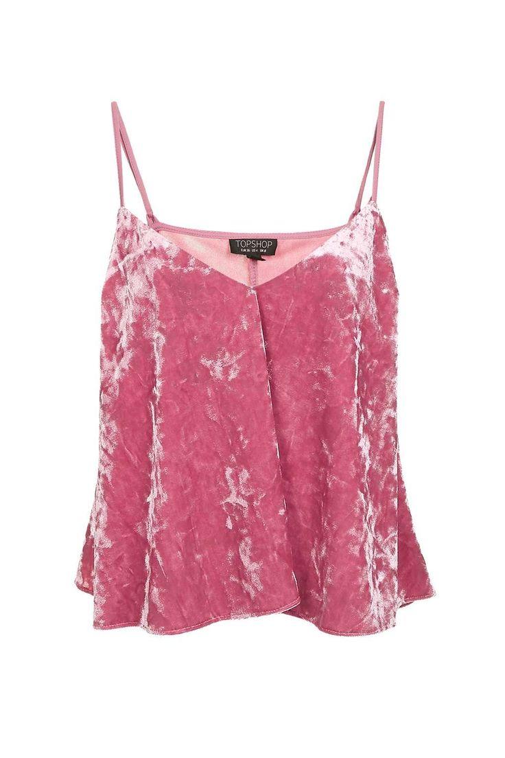 Velvet Swing Pink Cami Top - Tops - Clothing - Topshop Europe