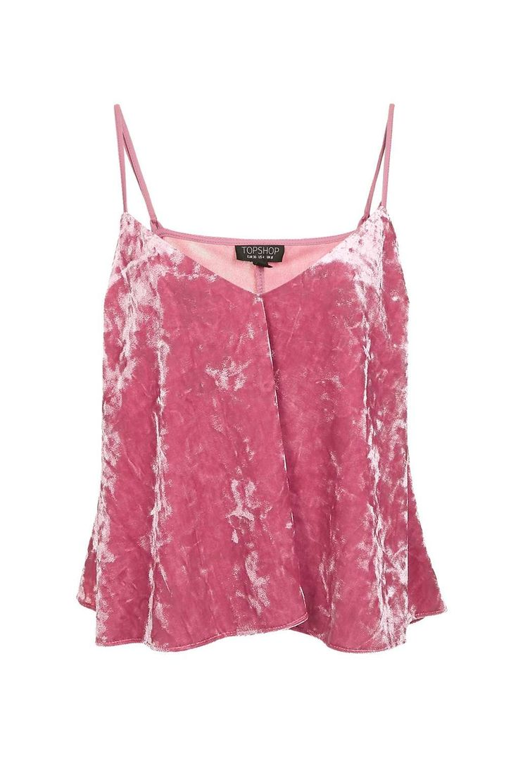 Velvet Swing Pink Cami Top - Tops - Clothing - Topshop Europe