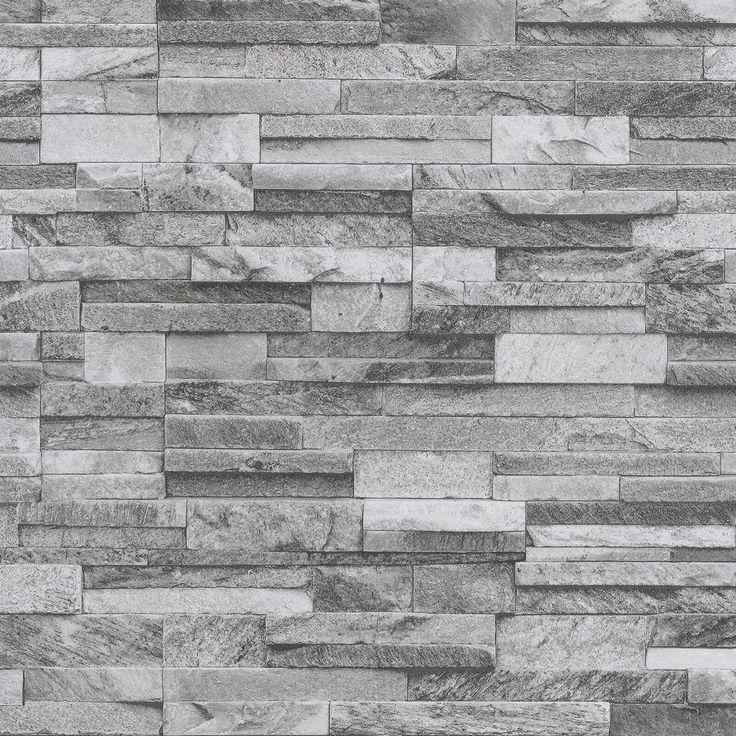 details zu ps origin 42106 40 l tapete vlies stein optik 3d grau - Steinwand Grau