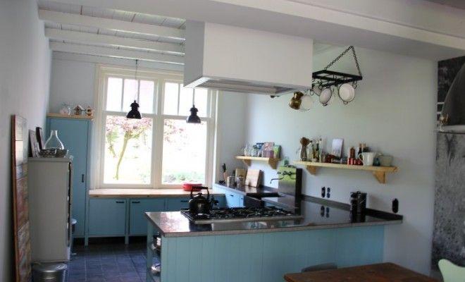 Afbeeldingsresultaat voor lichtblauwe keuken