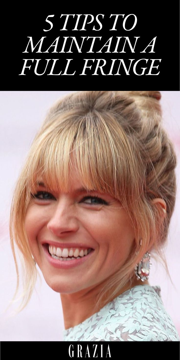 5 Tips To Maintain A Full Fringe (& How To Style Grown-Out Bangs) - Fringe Inspiration