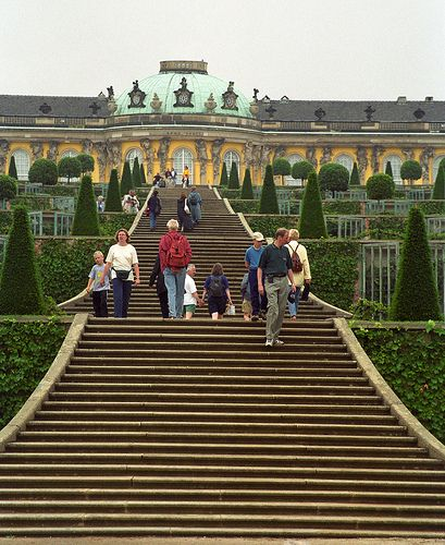 Potsdam, Berlin, Germany; the Sans Souci Palace of King Frederick the Great