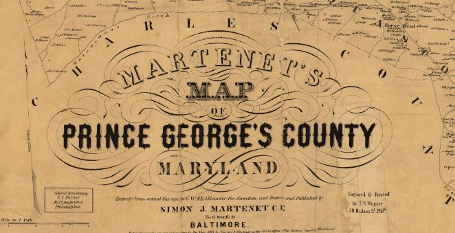 Here is a great old map of Prince George's County, done in 1861. Source: Library of Congress Related