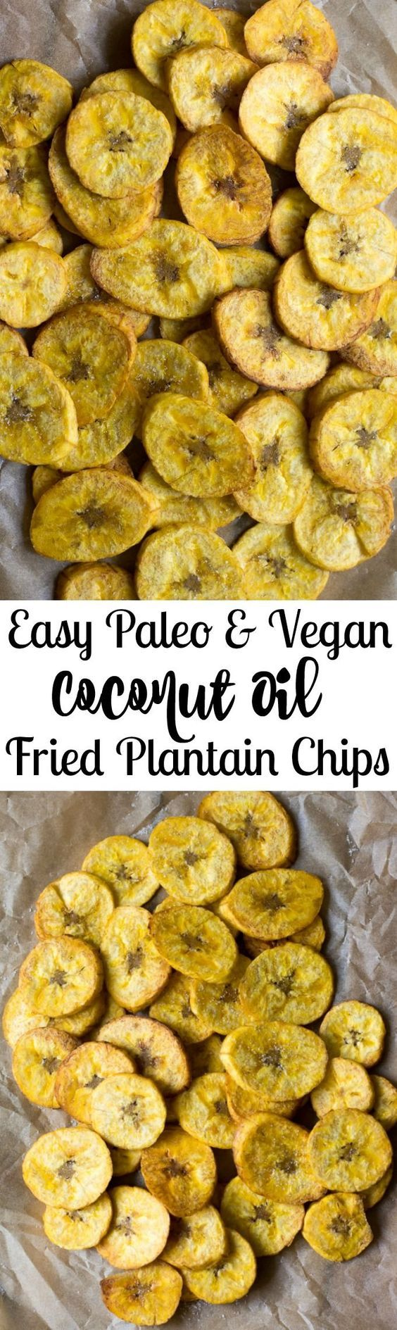 Easy Paleo, vegan and Whole30 coconut oil fried plantain chips