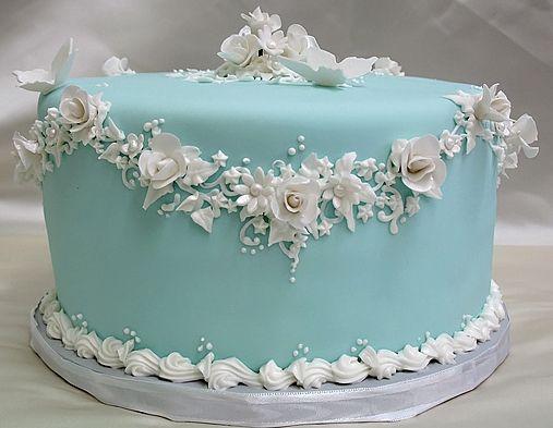 Tiffany blue cake!