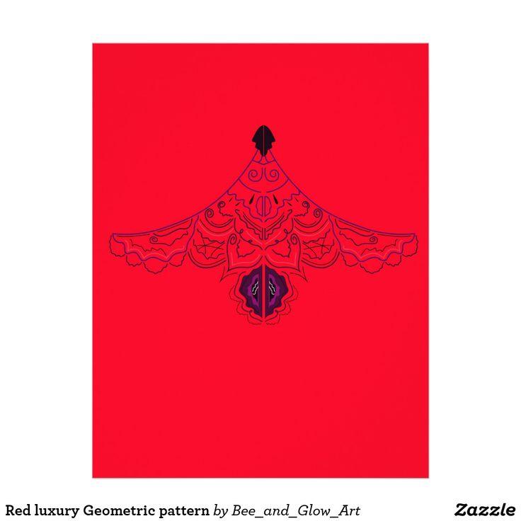 Red luxury Geometric pattern Letterhead