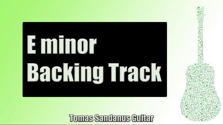 Backing Track in Em Pop Rock Alternative with Chords and E minor Pentatonic Scale