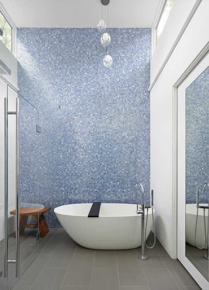 best 25+ bagno blu ideas on pinterest | bagni blu, bagni navy blu ... - Bagni Moderni Mosaico