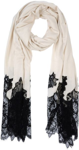 Valentino Black Lace Scarf- umm... I can totally make a copy of this. Awesome