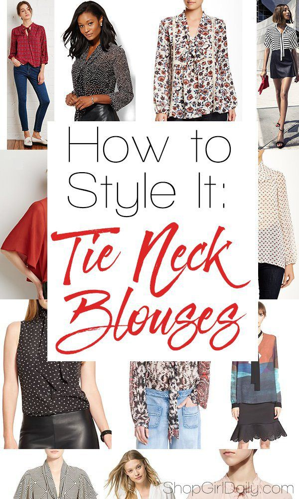 How to Style It: Tie Neck Blouses for Women | ShopGirlDaily.com #Trends #Fashion