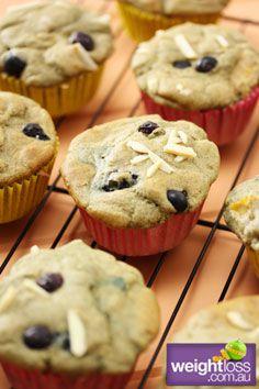 Healthy Muffins Recipes: Gluten Free Buckwheat Apple Blueberry Muffins. #HealthyRecipes #DietRecipes #WeightlossRecipes weightloss.com.au