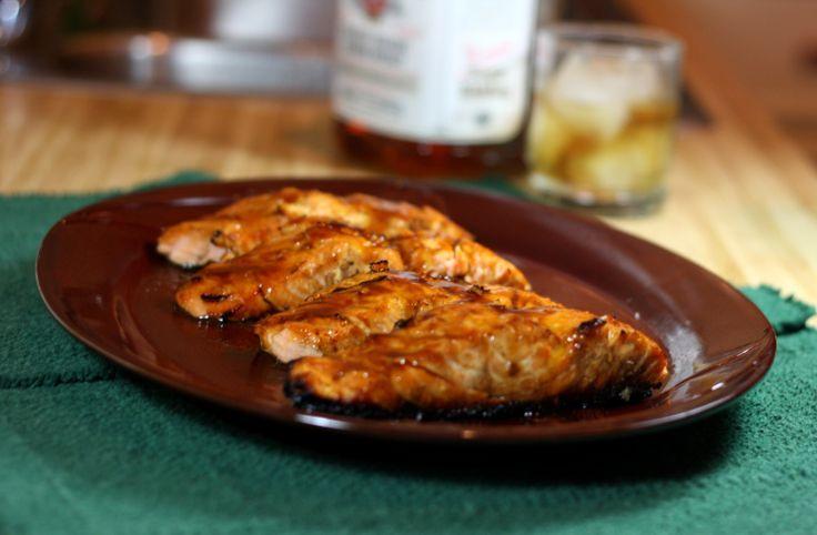 bourbon glaze glazed salmon grilled salmon smoke seafood recipes ...