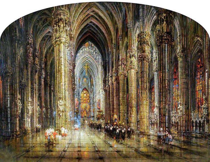 The Oriflamme of Milan | Wyke Bayliss #UnitedKingdom, 1835-1906 Medium: Painting - oil on canvas | Location: Ferens Art Gallery - Hull  (United Kingdom - Hull)